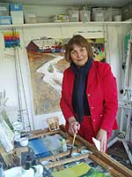 Sally in her studio